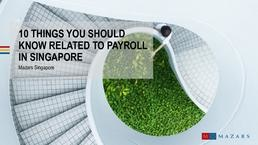 10 things you should know related to payroll in SG